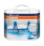 Žiarovka H3 OSRAM Cool Blue Hyper+ WHITE 12V 55W Set 2ks