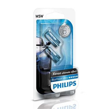 Žiarovka W5W 12V PHILIPS Blue Vision Set 2ks