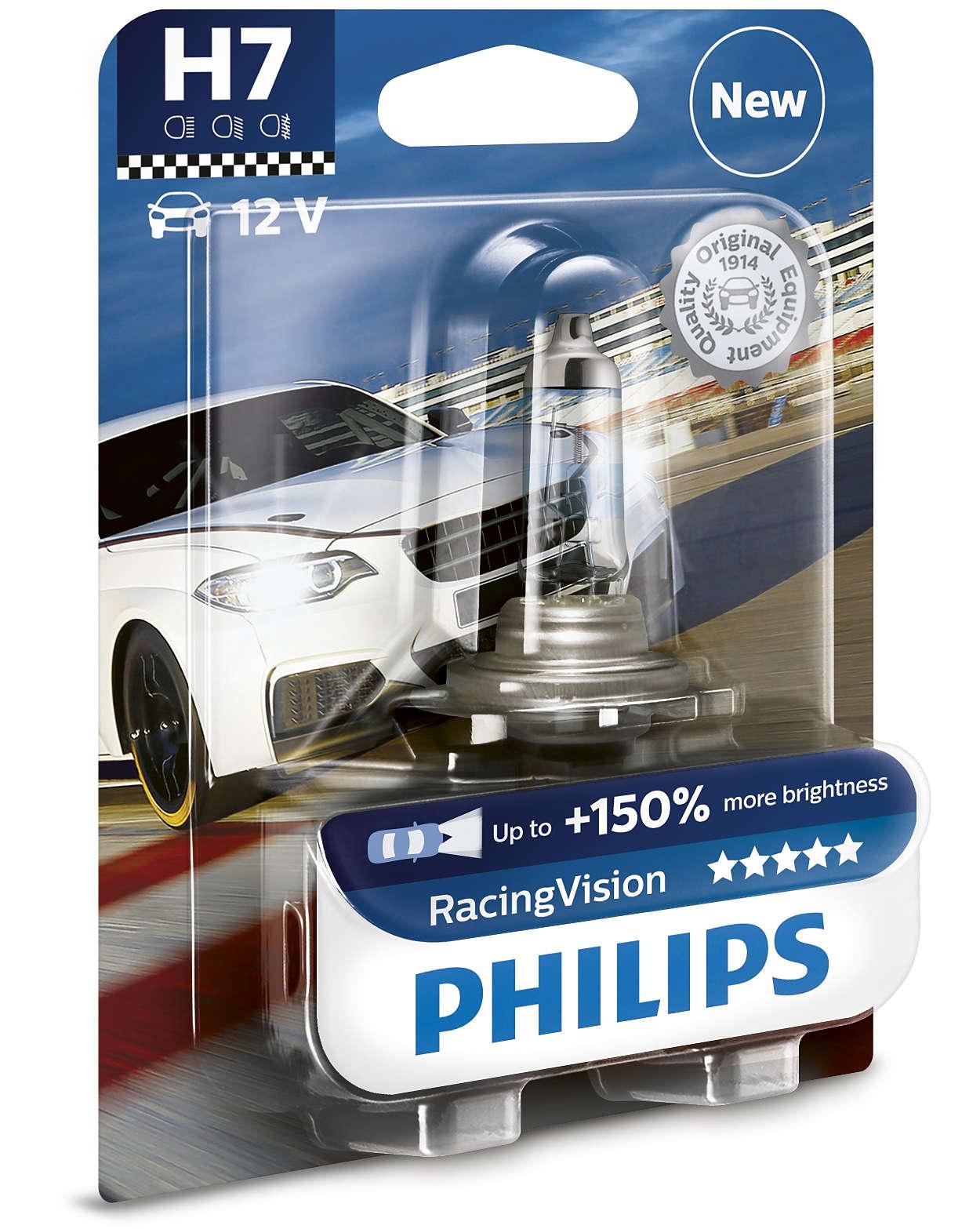 1ks iarovka h7 philips racing vision 12v 55w px26d. Black Bedroom Furniture Sets. Home Design Ideas