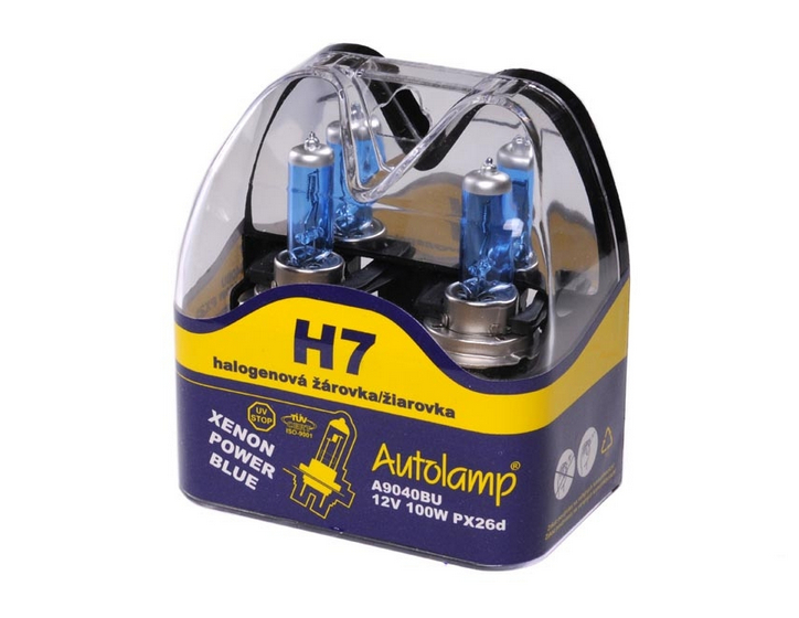 Žiarovka H7 AUTOLAMP 12V 100W Xenon Power Blue Set 2ks
