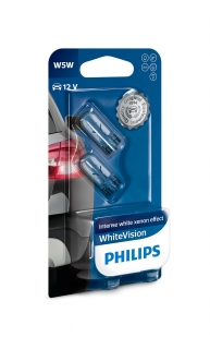 Žiarovka W5W 12V PHILIPS White Vision Set 2ks