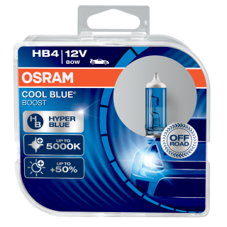 Žiarovka HB4 OSRAM CoolBlue Booster 12V 80W HyperBlue Modrá +50% svetla Set 2ks
