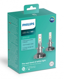 LED H7 PHILIPS Ultinon 12V žiarovka Set