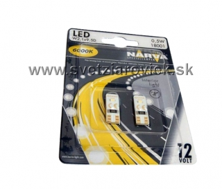 Žiarovka LED W5W T10 12V NARVA 6000K Set 2ks