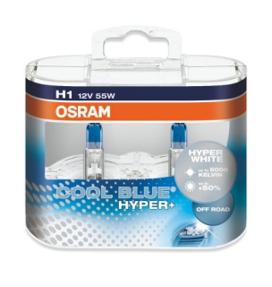 Žiarovka H1 OSRAM Cool Blue Hyper+ PLUS 12V 55W - Set 2ks