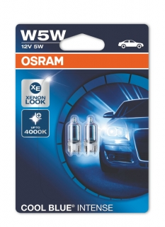 Žiarovka W5W halogén 12V Cool Blue Intense OSRAM Set 2ks