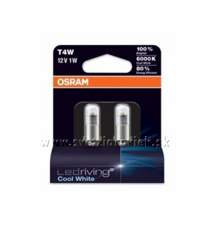 Žiarovka LED T4W 12V OSRAM LEDriving 6000K Set 2ks
