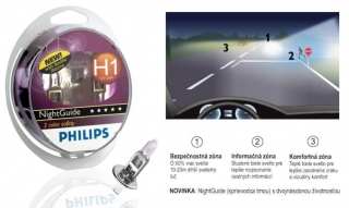 Žiarovka H1 PHILIPS NightGuide 12V Set 2ks
