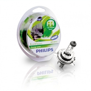 Žiarovka H4 PHILIPS EcoVision 12V 60/55W - Set 2ks