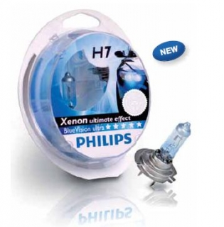 Žiarovka H7 PHILIPS BlueVision ultra + W5W - Set 2ks