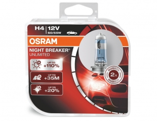 Žiarovka H4 OSRAM Night Breaker Unlimited 12V Set 2ks